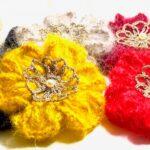 Broderie, crochet et laine mohair