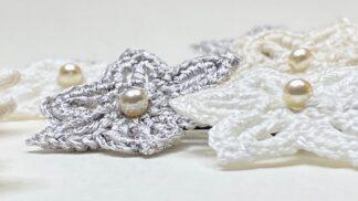 Bijoux cheveux en dentelle au crochet
