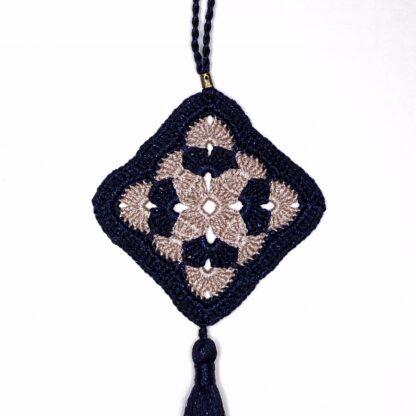 Deco losange bicolore dentelle crochet GM
