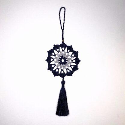 Deco rond bicolore dentelle crochet