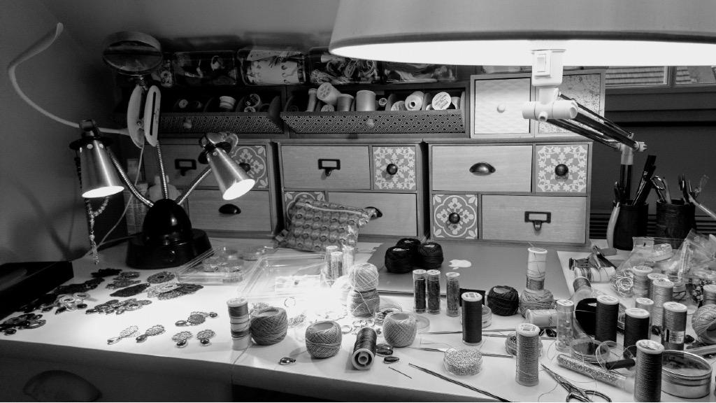 Atelier confection dentelle et broderie Essonne