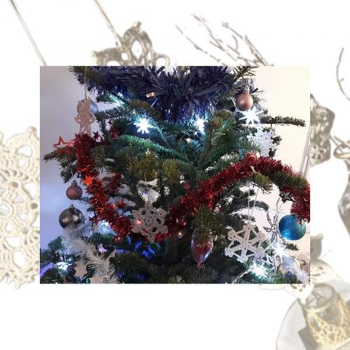 Etoile de Noël en dentelle au crochet