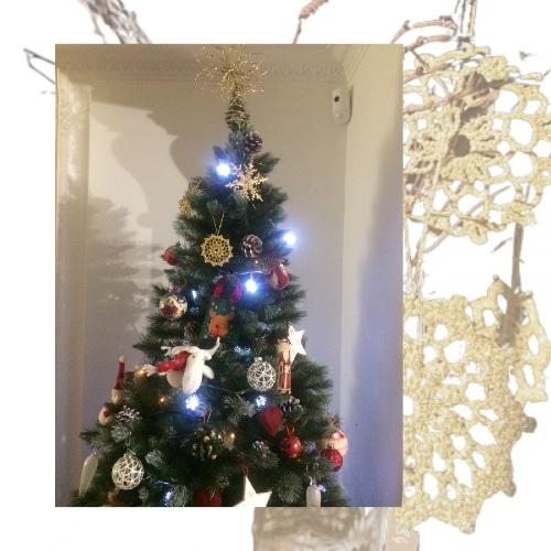 Déco de Noël en dentelle au crochet