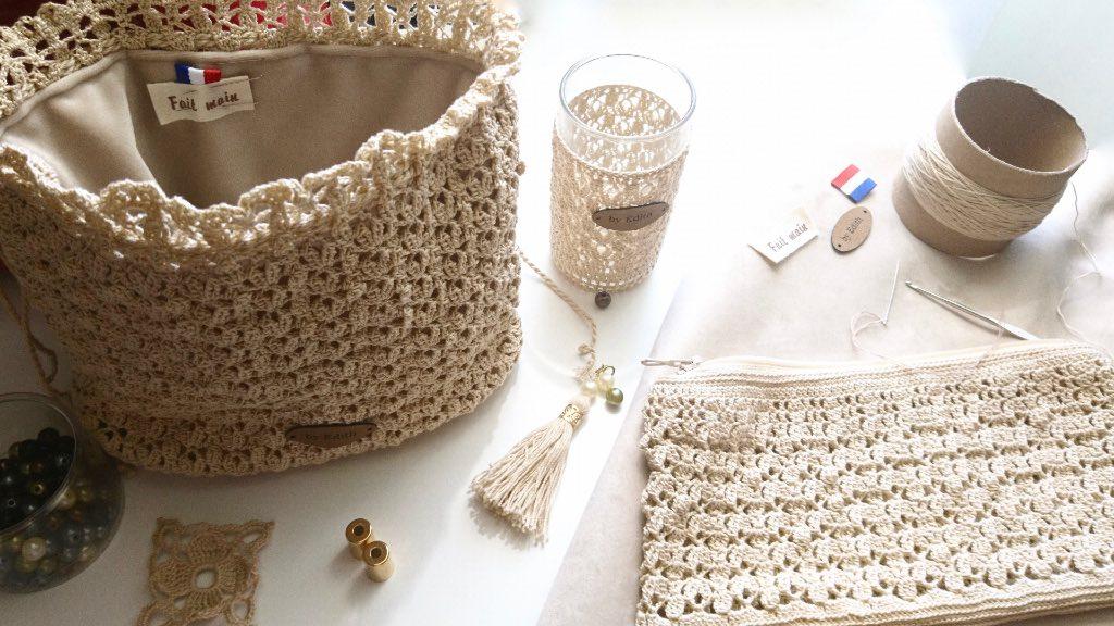 atelier confection trousses en dentelle au crochet