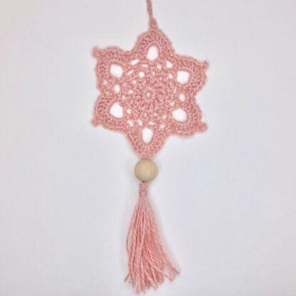 mandala rose au crochet