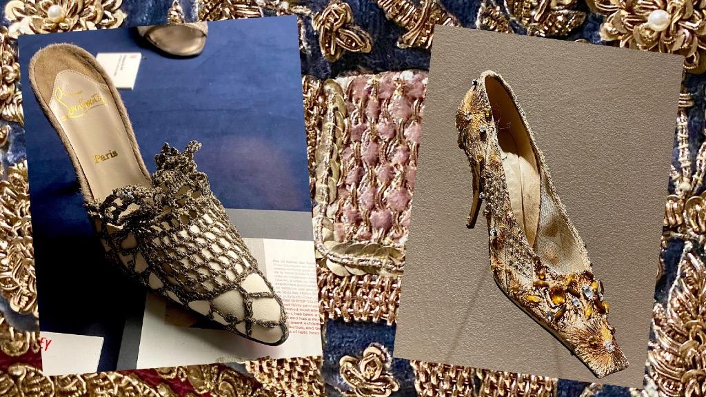 crochet macramé chaussures Louboutin