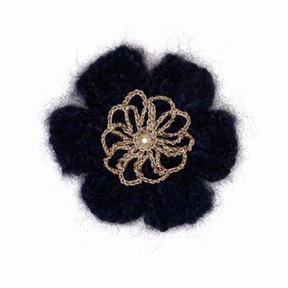 Pince cheveux fleur noir