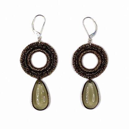 Boucles d'oreilles rondes bronze