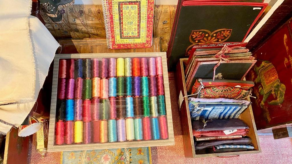 Fils de soie pour broderie traditionnelle indienne