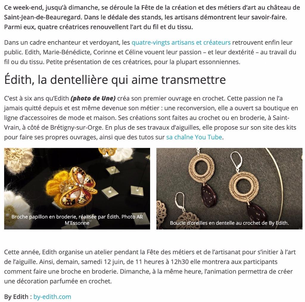 dentelle broderie artisanat en Essonne