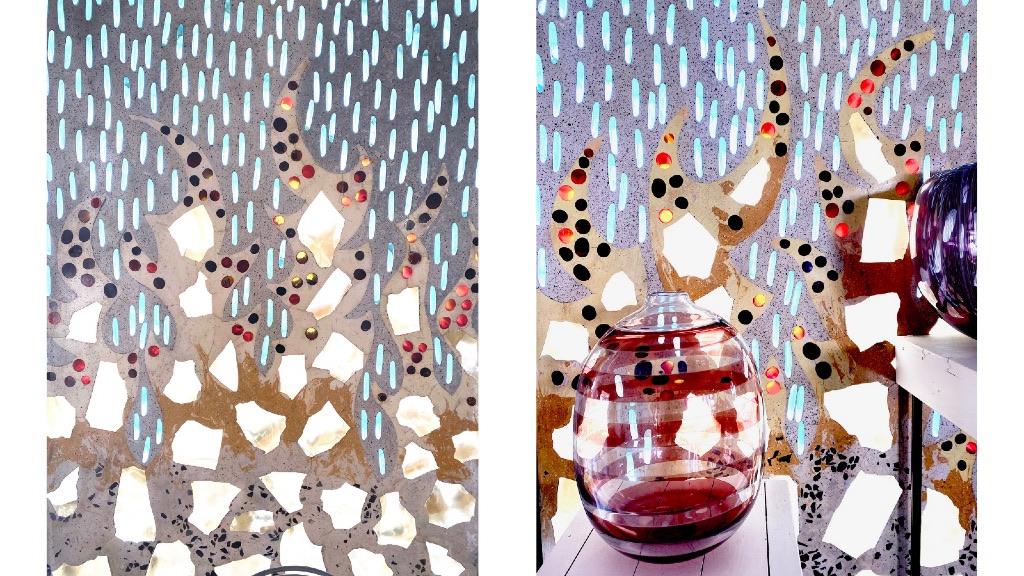 decoration murale en verre
