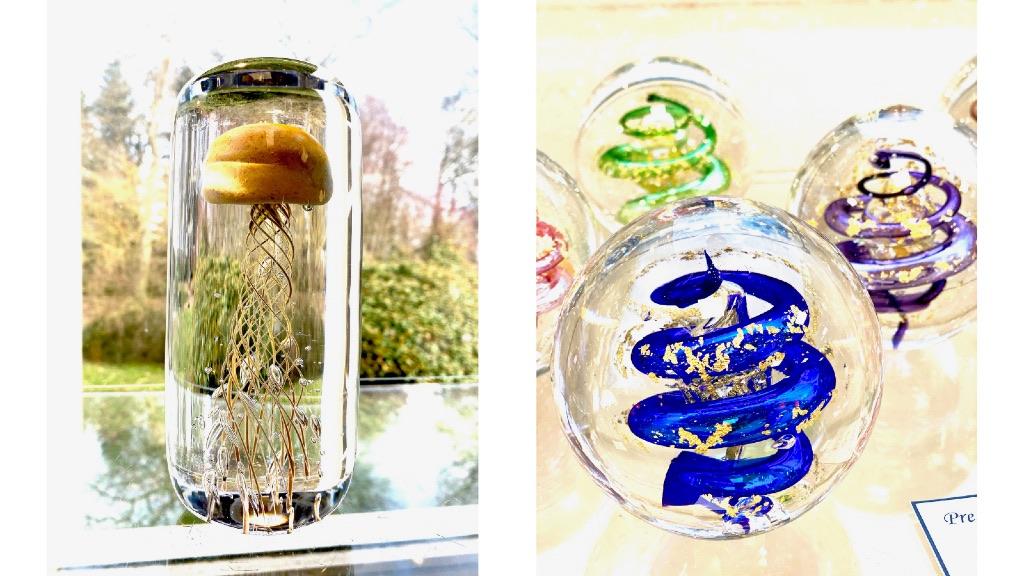 presse-papier artisanal en verre